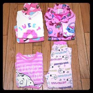 Toddler Girl Size 4 Pajama Bundle